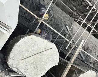 萬州2期圍護樁繩鋸切割拆除