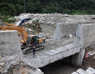 水電站混凝土墻大型切割拆除